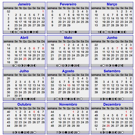 calendario 2.012