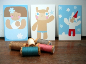 como fazer postais de natal com material reciclado