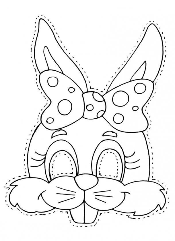 Máscaras de Carnaval - coelhinha