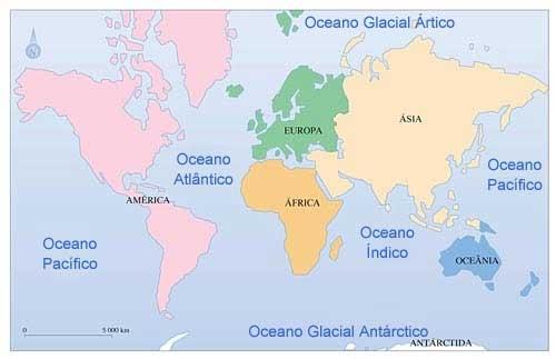 quantos oceanos existem
